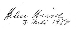 Helen Hirsch's signature and date, page 5