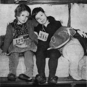 Refugee children from Austria who came to England as part of the Kindertransport in 1938